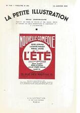 LA PETITE ILLUSTRATION N°361 - L'ETE - JACQUES NATANSON