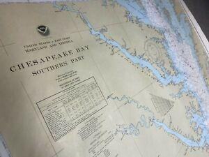 1977 US Coast and Geodetic/Commerce Survey Map Depth Chart 12220 Chesapeake Bay