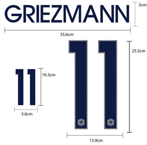 France Away World Cup 2014 PU SOCCER FOOTBALL NAME NUMBER PRINT