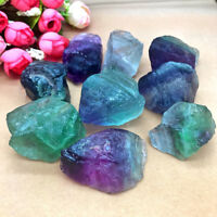Hot Natural Fluorite Quartz Crystal Stones Rough Polished Gravel Specimen