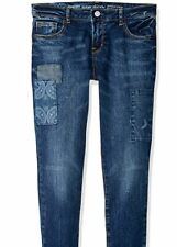 NWT GYMBOREE BIG GIRLS PATCH FRONT SKINNY JEANS SIZE 7