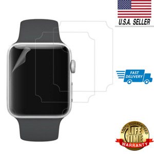 3-Pack Apple Watch Screen Protector 38mm for Series 3 2 1 Self-healing TPE HD