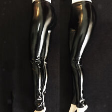 1:6 Black PU Leather Pants for 12'' HT/Phicen Female Soldier Figure Doll Toy