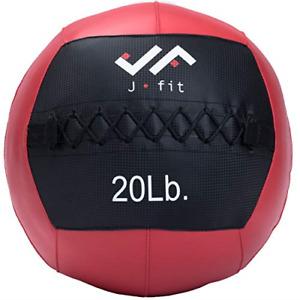 j/fit Wall Medicine Ball, Red/Black, 20 LB 20-0056