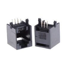 10pcs/Set RJ11 RJ12 6P6C ordinateur Internet Network PCB Jack Socket HQ