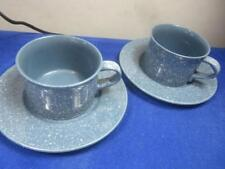 Mikasa Pair Ultrastone Country Blue Cup & Saucer