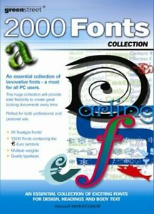 2000 TrueType fonts (.ttf/.ttc) Scalable Any Windows Systems  CD Box 120p manual