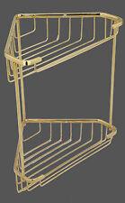 Brasstech Forever Brass Two Tier Corner Basket 10-77/01