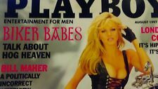 Playboy August 1997 NEAR MINT – Biker Babes 12 Pages -Kalin Olson –Sophia Loren
