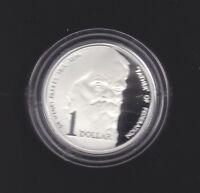 1996 $1 Silver Proof Coin Sir Henry Parkes Father of Federation 1815 - 1896