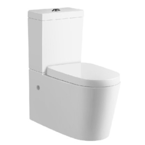 Ceramic Round Back To Wall Faced Toilet pick up - Soft Close Seat & S or P Trap