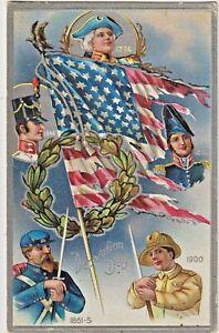 Decoration Day US Flag, Union & US Soldiers & Sailors 1776-1900