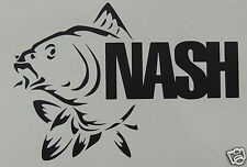 Grand Nash Pêche Logo Sticker/Autocollant/Pêche/Pêche À La Ligne/Carpe