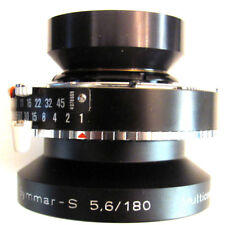 Schnedier Kreuznach 180mm f/5.6 Symmar S MC View Camera Lens in Compur 1 Shutter