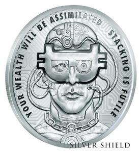 2018 Silver Shield 5 oz BorgCoin Silver Proof .999 SSG