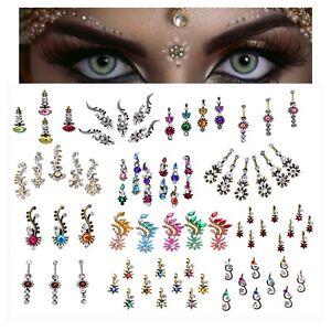 Crystal BINDI Multi Pack-Festival FACE GEM Indian Glitter Tikka JEWEL Bridal