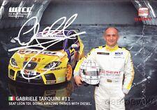 Gabriele Tarquini signed Seat Sport Leon TDI WTCC postcard