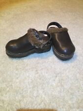 GYMBOREE Brown Clogs Size Youth 9 Girls MOUNTAIN CABIN Shoes