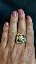Albert Einstein Emerald Topaz Black Onyx Silver & Bronze Men unisex Ring Size 10