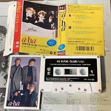 A-HA 45 RPM Club JAPAN CASSETTE TAPE PKF-1040 w/PHOTO CARD+PS(Flap intact) FreeS
