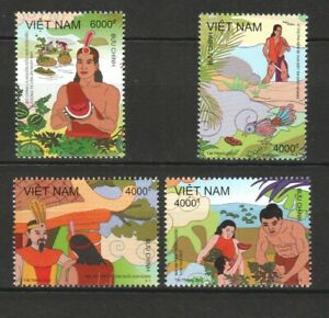 VIETNAM 2021 THE LEGEND OF MAI AN TIEM WATERMELON COMP. SET OF 4 STAMPS IN MINT