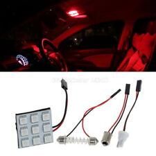 4x Red Universal Fit LED Panel Lights 9-SMD Car Interior Dome Map Trunk Bulb 12V