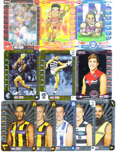 2014 2015 AFL TeamCoach Assorted LOT of 9 Gold Silver FOOTY 3D Game Cards