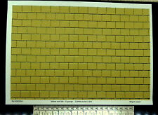 G gauge (1:24) scale) yellow roof tile paper - A4 sheet (297 x 210 mm)