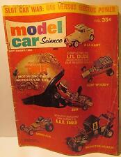 Model Car Science Magazine, September 1966, 1/24 Ghoulie Munster Slot Cars, HO