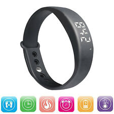 W5 USB Smart Wrist Band Bracelet Pedometer Sport Watch for Android Black