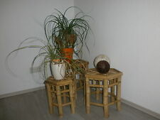 Bamboo stools, planting stools, side tables, set of 3