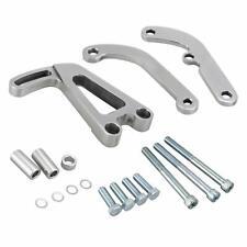 Billet Aluminum Power Steering Bracket Kit For LWP Chevy SBC Long Water Pump 350