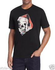 Robert Graham Santa Skull Hat T-Shirt Cotton Black XS $98 New