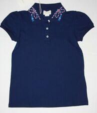 Gucci Kids GG Piquet Short Sleeve polo Blue Big kids 10