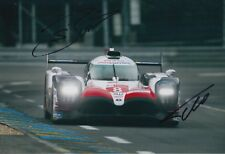 Sebastien Buemi and Fernando Alonso Hand Signed Toyota 12x8 Photo 2018 Le Mans .
