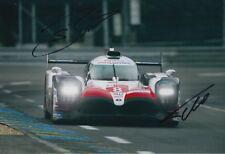 Sebastien Buemi and Fernando Alonso Hand Signed Toyota 12x8 Photo 2018 Le Mans .