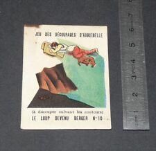 CHROMO 1930-1940 CHOCOLAT AIGUEBELLE DONZERE JEU DECOUPAGES FABLES LA FONTAINE
