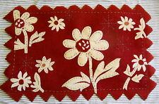 Felted Wool Rug Hand Embellished Flower