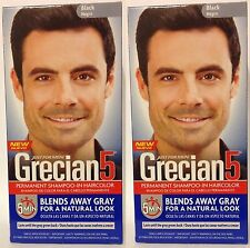 Just For Men Grecian 5, Hair Shampoo In Hair Color, Black (2 Pack)