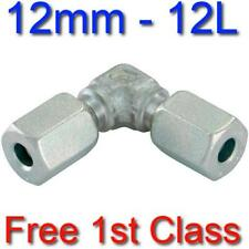 12L EQUAL ELBOW HYDRAULIC COMPRESSION FITTING/COUPLING TUBE PIPE JOINER 12mm
