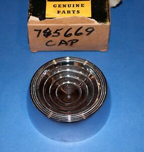 1961 Chevy Parkwood Brookwood Belair steering wheel horn button NOS 765669 New