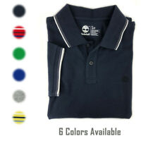 Timberland Men's Short Sleeve Pique 100% Cotton Polo Shirt (U Pick Color)