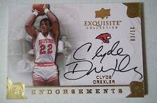 2011 Exquisite CLYDE DREXLER Auto Autograph Endorsements  #d 03/10 !!