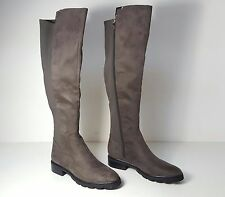 size 8.5 Marc Fisher Felissa 2 Grey Tall Knee High Riding Boots Womens Shoes