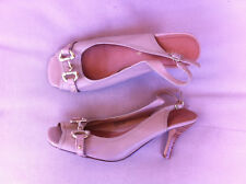 STYLISH CORELLI BEIGE LEATHER SLING BACK HEELS SIZE: 9 NN