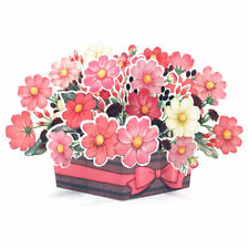 Gorgeous Cosmos Flower Basket Multipurpose Pop Up Greeting Card
