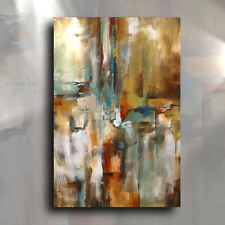 Abstract Painting 'Gravity' Original Mix Lang Art Deco Signed U.S.A. Certified