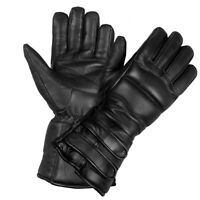 Men's Genuine Sheep Leather Winter Street Cruiser Motorcycle Thermal Gloves