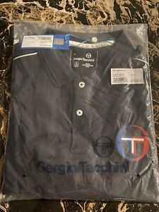 Sergio Tacchini Men's Rolex Paris Open Polo Button Shirt XL Night Sky 2020  NEW