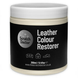 LIGHT CREAM Leather Restorer for Faded/Worn Leather Sofa Chair Bag Shoes 250ml